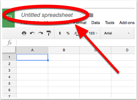 Name your Google Sheet